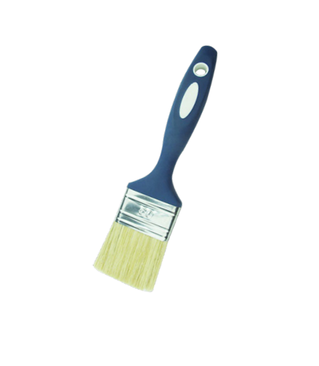 Flat brush with 100% white bristle