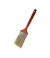 Angle brush with pure white and brown solid tapered filament mixture