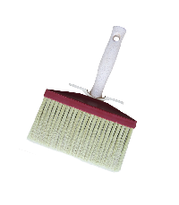 Ceiling brush with white bristle color tapered filament