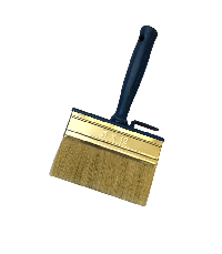 Ceiling brush with white natural bristle