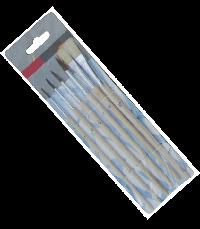 Artist brush with nylon hair and white bristle